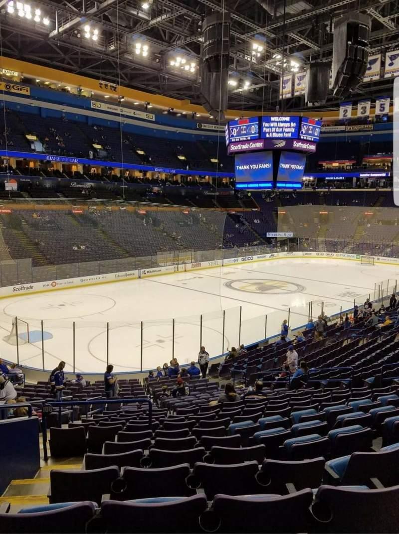Enterprise Center, section: 106, row: BB, seat: 18-19