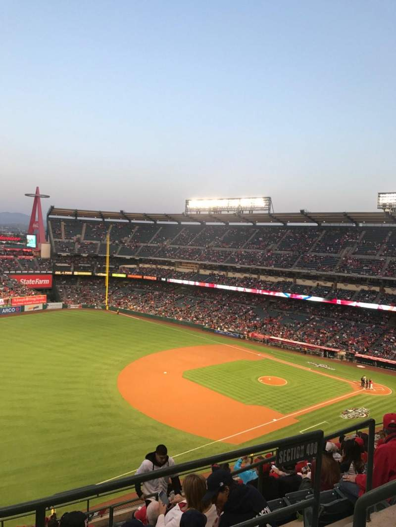 Seating view for Angel Stadium Section V509 Row A Seat 18