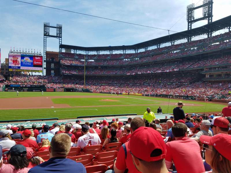 Seating view for Busch Stadium Section 157 Row 6 Seat 9