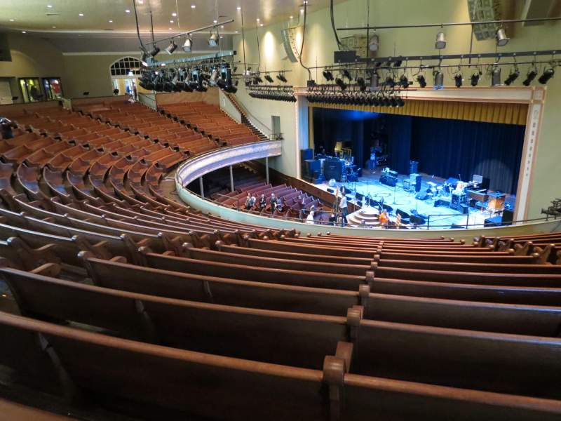 Seating view for Ryman Auditorium Section BAL-10 Row P Seat 7