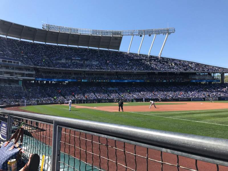 Seating view for Kauffman Stadium Section 141 Row B Seat 6