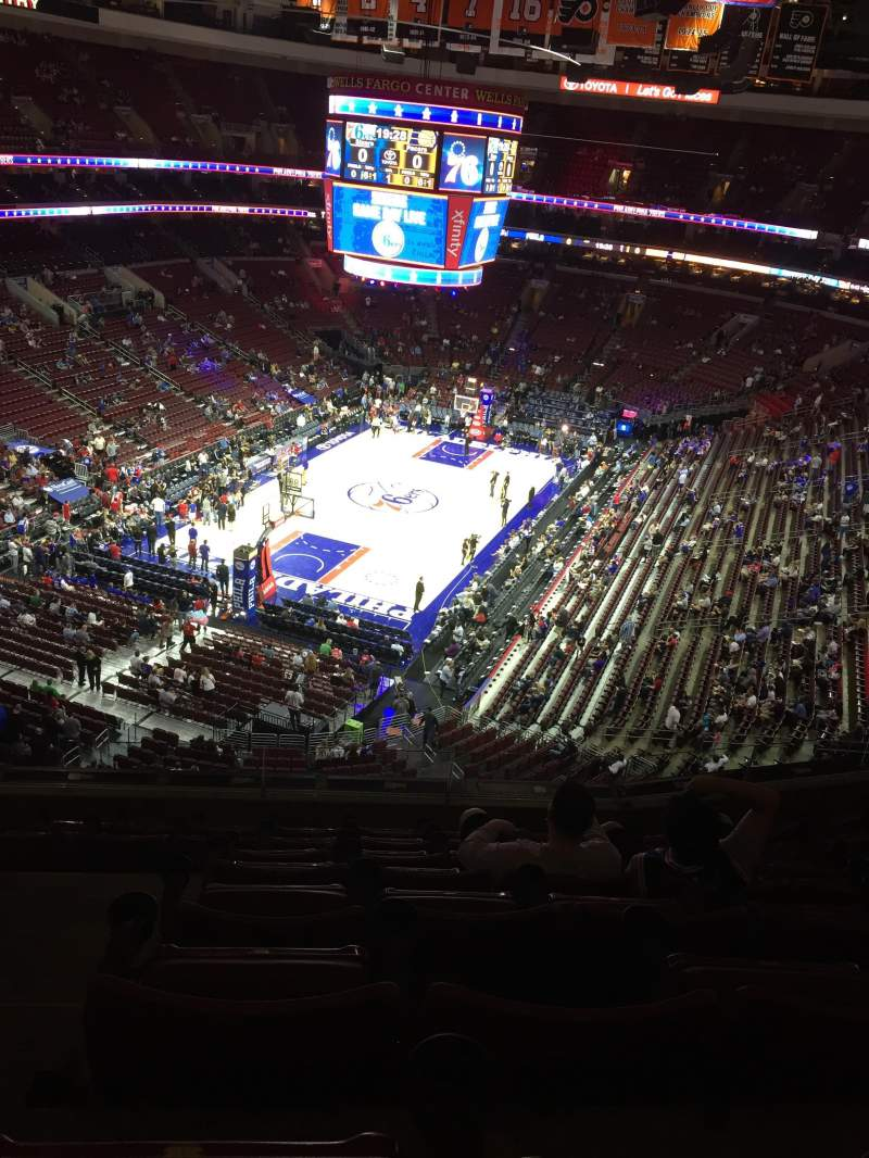 Seating view for Wells Fargo Center Section 209 Row 8 Seat 3-4
