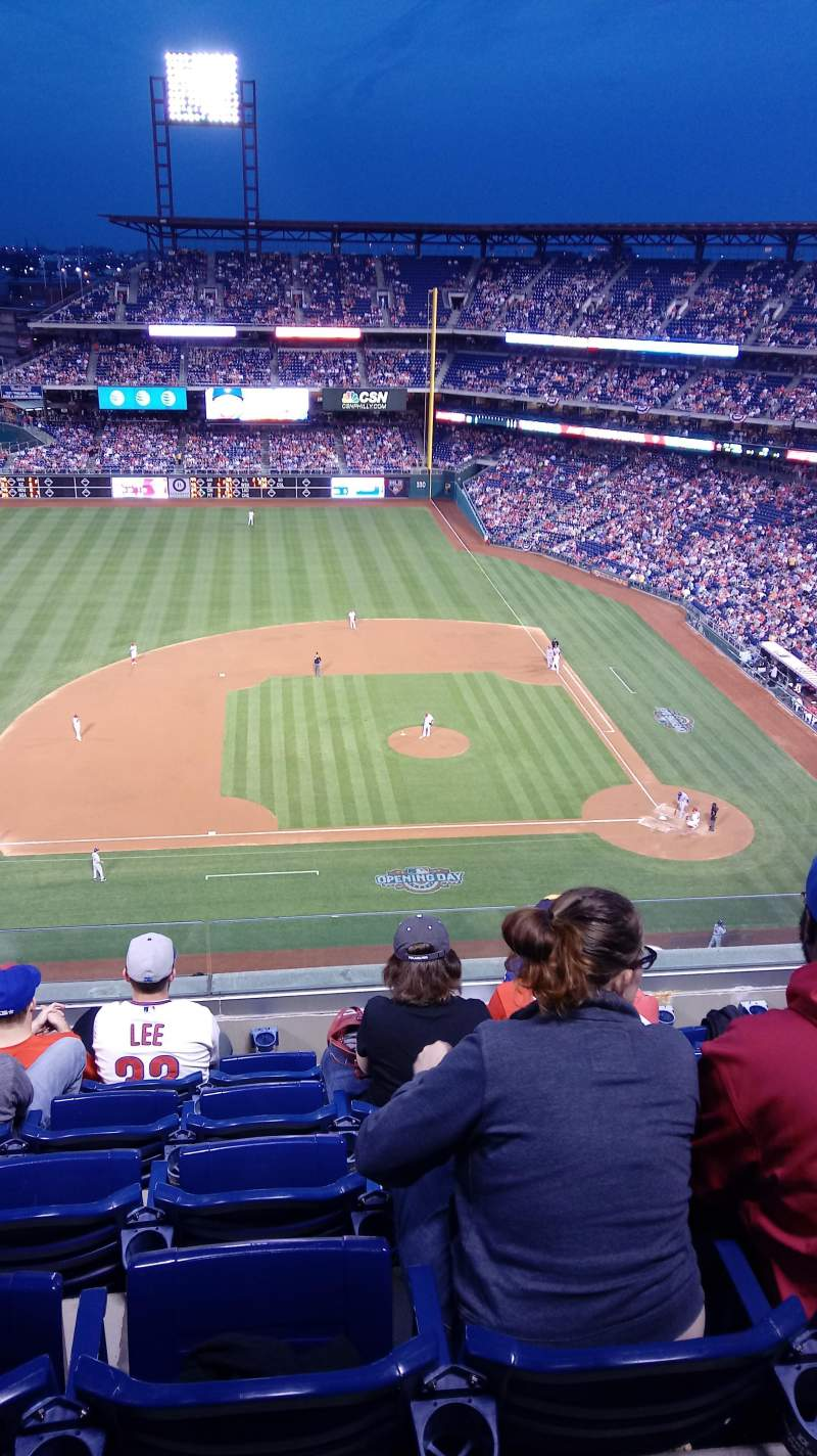 Seating view for Citizens Bank Park Section 426 Row 6 Seat 13
