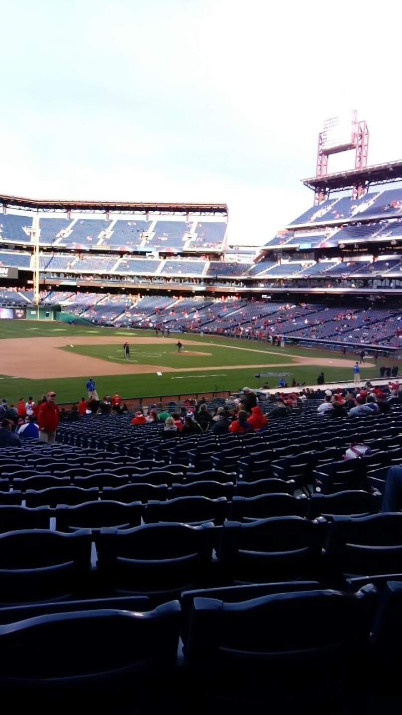 Seating view for Citizens Bank Park Section 134 Row 35 Seat 5