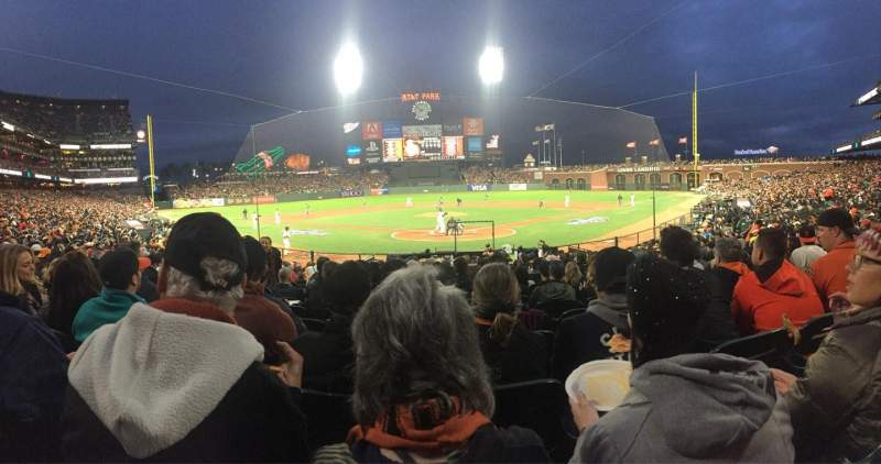 Seating view for Oracle Park Section 115 Row N Seat 11
