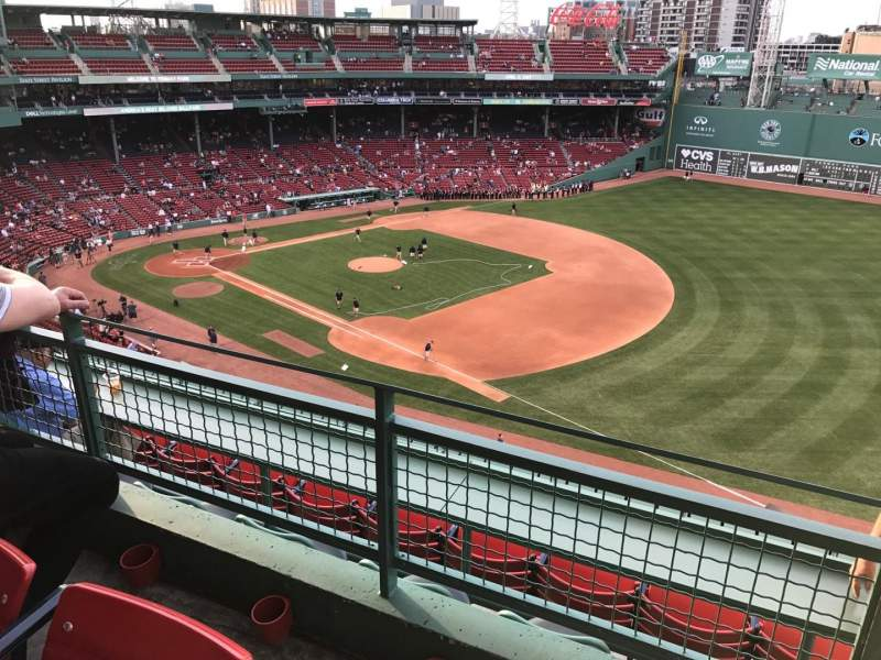 Seating view for Fenway Park Section Pavilion Box 13 Row B Seat 1