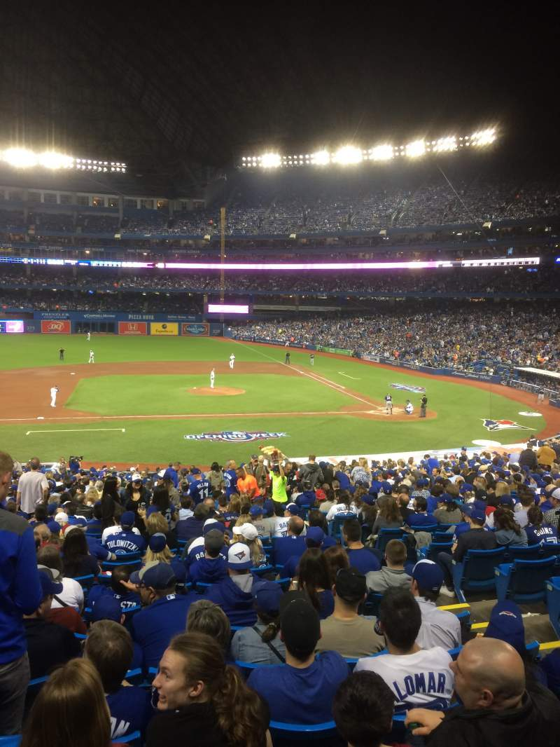Seating view for Rogers Centre Section 126L Row 40 Seat 105