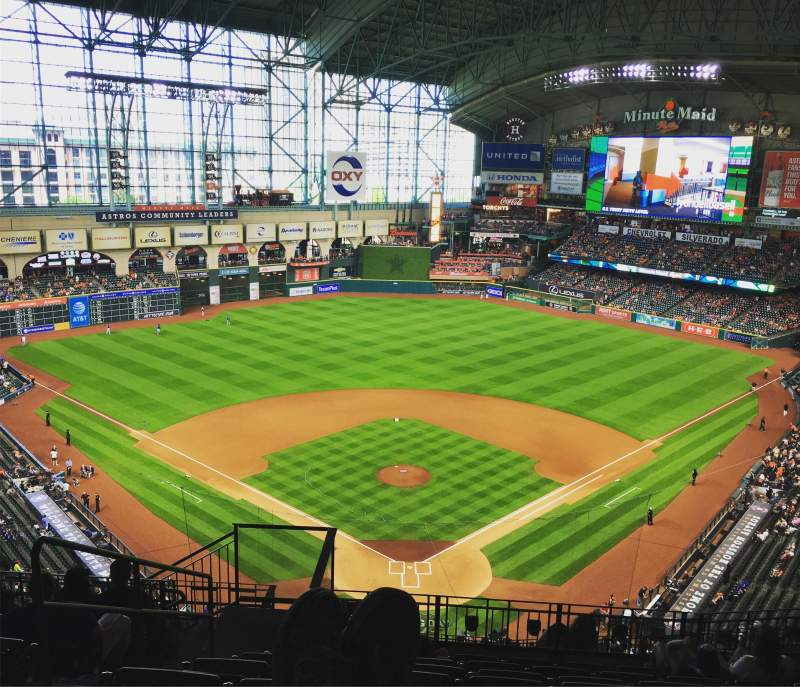 Seating view for Minute Maid Park Section 419 Row 8