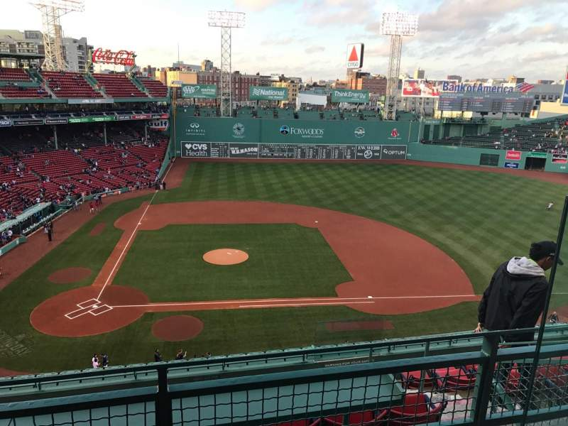 Seating view for Fenway Park Section Pavilion Box Row B Seat 3