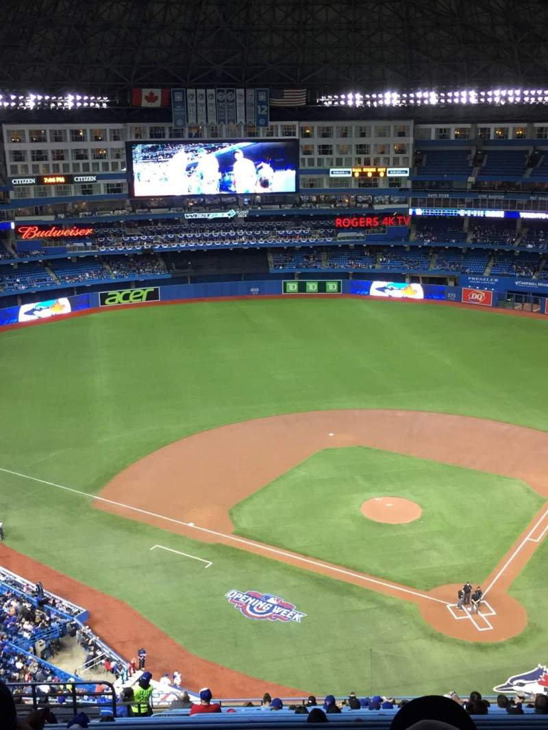 Seating view for Rogers Centre Section 526R Row 22 Seat 9