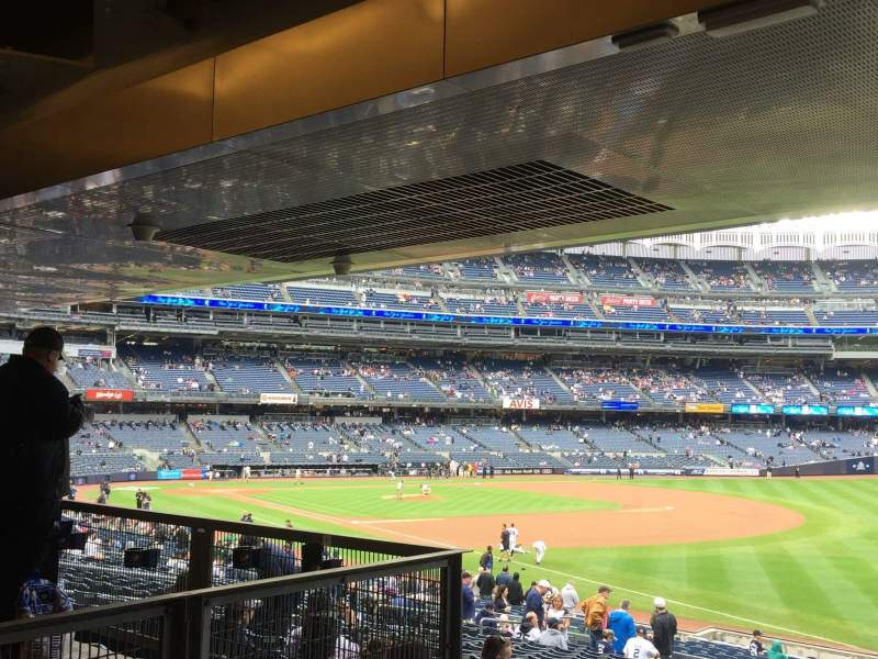 Seating view for Yankee Stadium Section 110 Row 29 Seat 14, 15