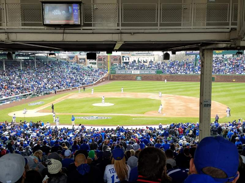 Seating view for Wrigley Field Section 223 Row 22 Seat 23