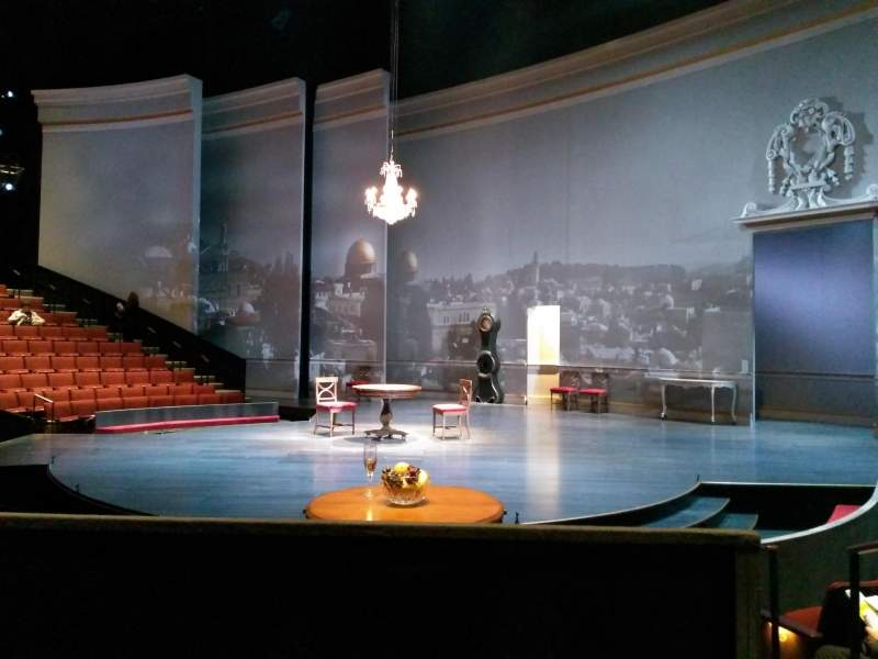 Seating view for Vivian Beaumont Theater Section orchestra rc Row M Seat 409
