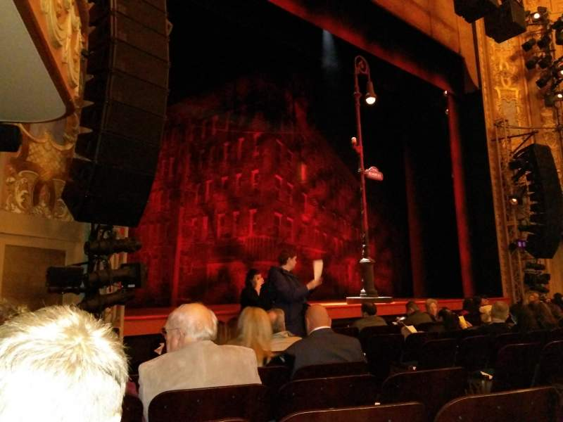 Seating view for Longacre Theatre Section Orchestra L Row H Seat 10