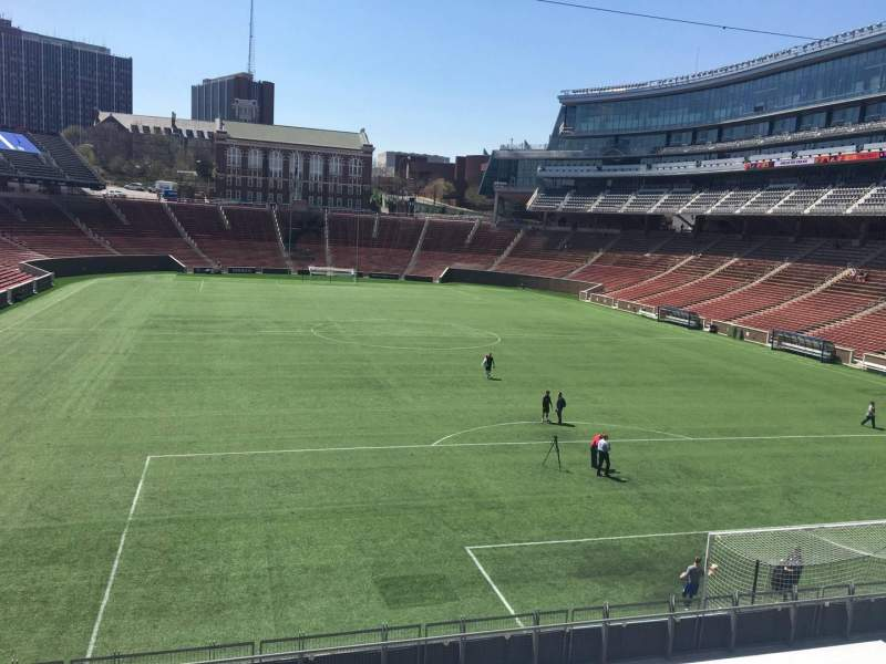 Seating view for Nippert Stadium Section 135 Row 16 Seat 3
