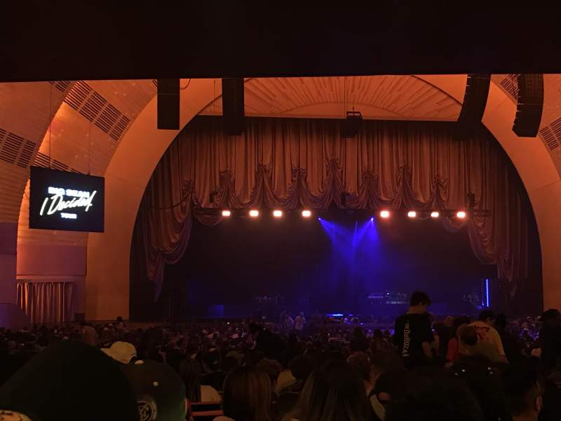 Seating view for Radio City Music Hall Section Orchestra 5 Row T Seat 508