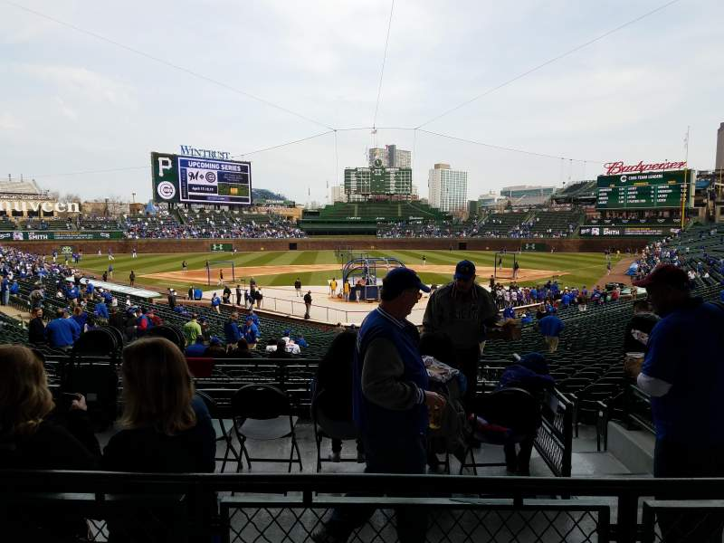 Seating view for Wrigley Field Section 217 Row 2 Seat 5