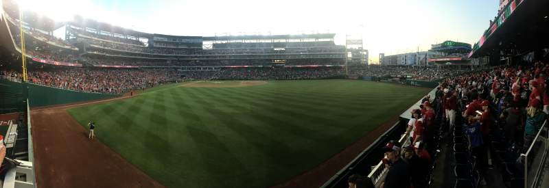 Seating view for Nationals Park Section 139 Row F Seat 3
