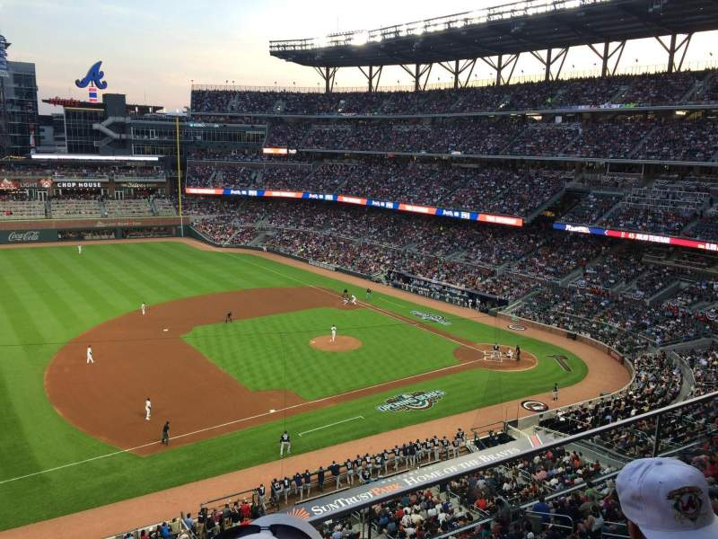 Seating view for SunTrust Park Section 335 Row 2 Seat 16
