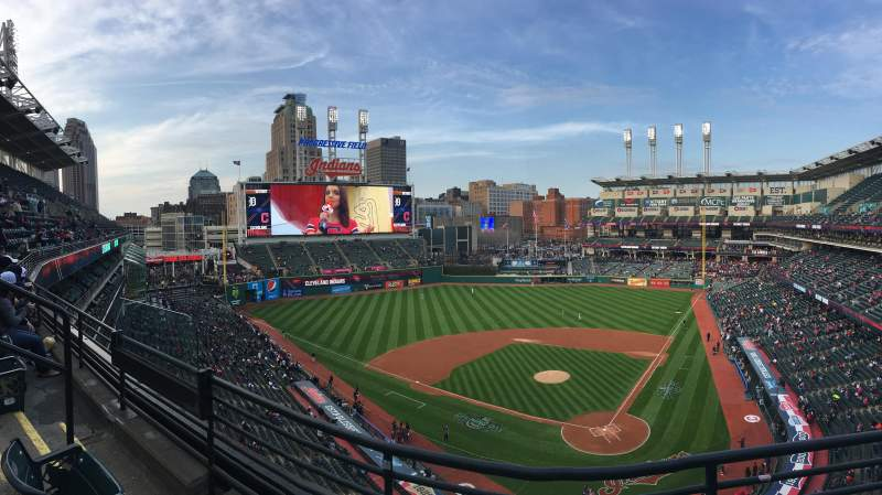 Seating view for Progressive Field Section 456 Row B Seat 16