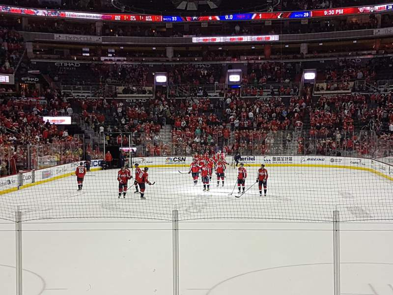 Seating view for Capital One Arena Section 105 Row J Seat 6