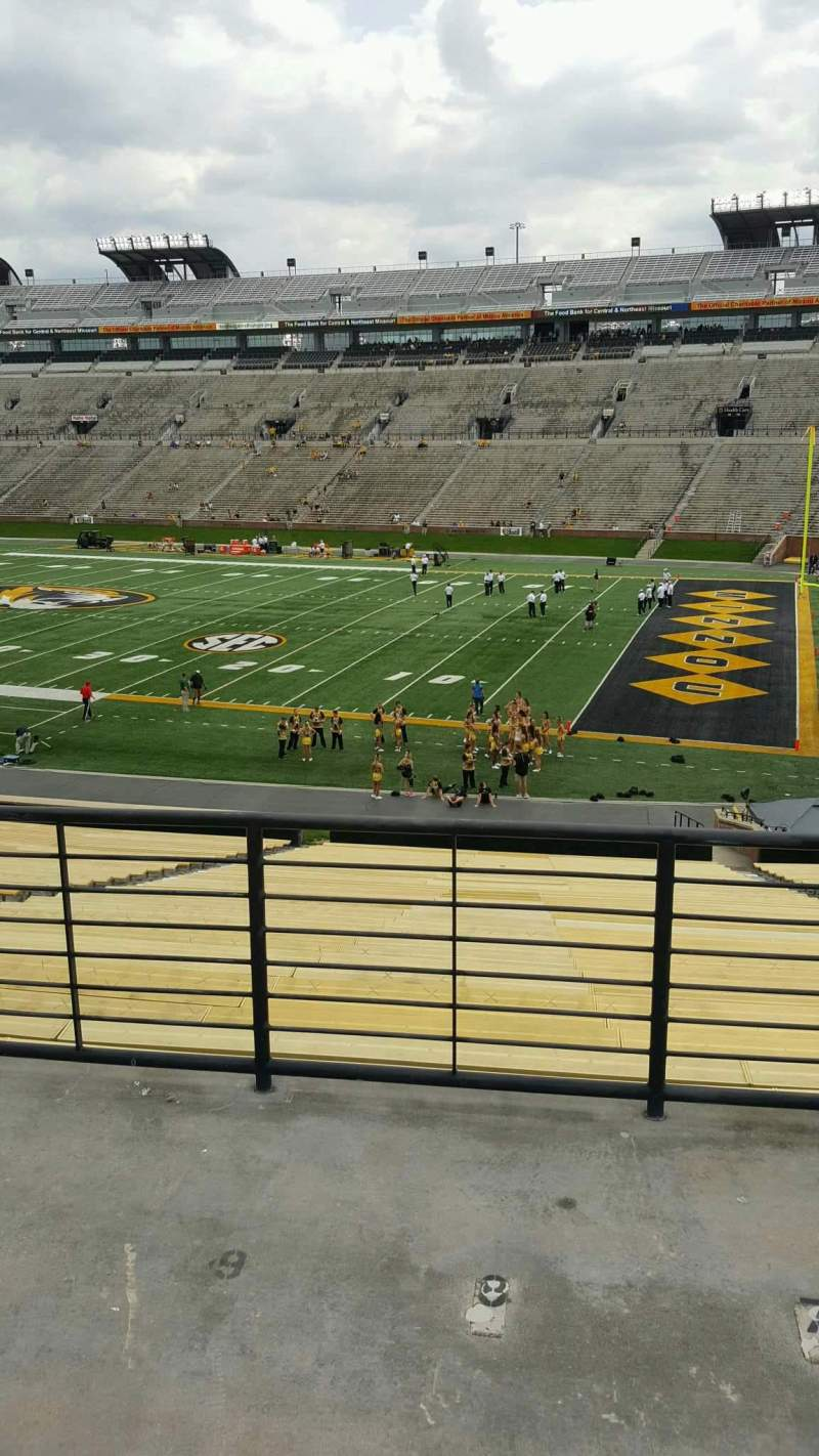 Seating view for Faurot Field Section 124 Row 40 Seat 10