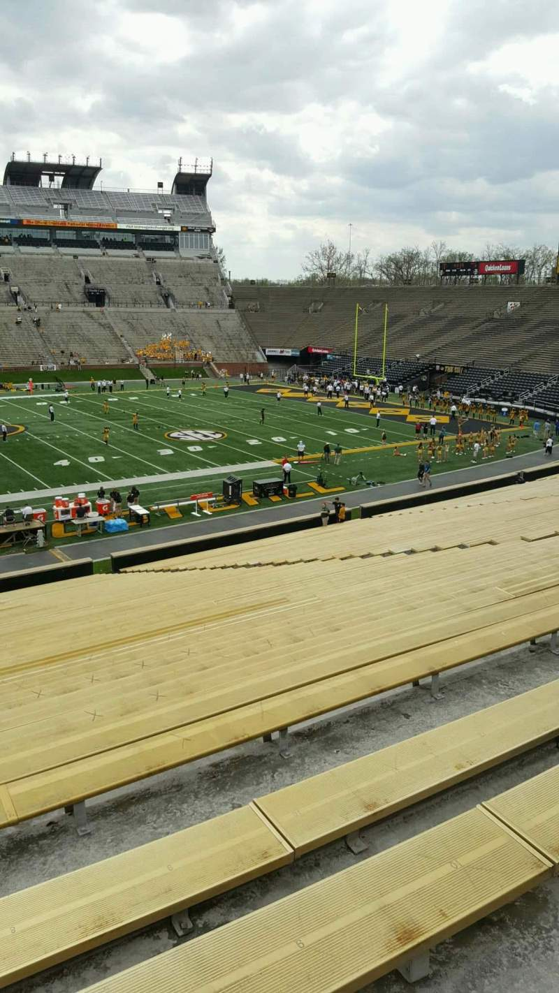 Seating view for Faurot Field  Section 120 Row 42 Seat 21