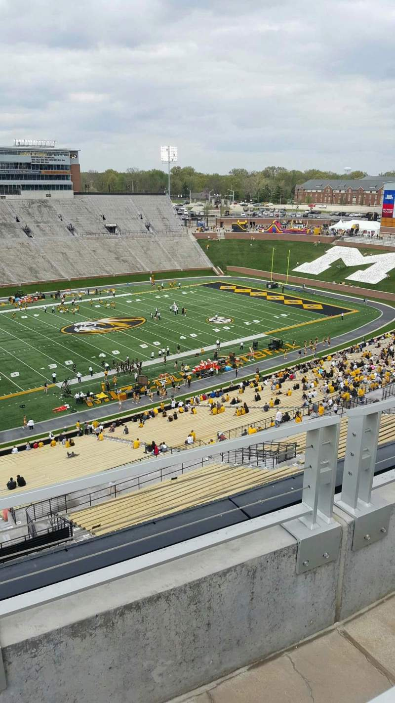 Seating view for Faurot Field Section 303 Row 2 Seat 7