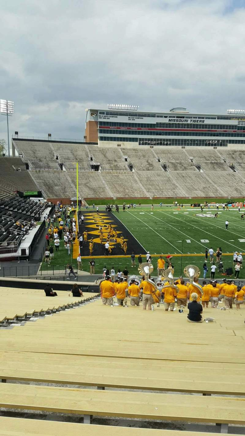 Seating view for Faurot Field  Section 102 Row 35 Seat 22