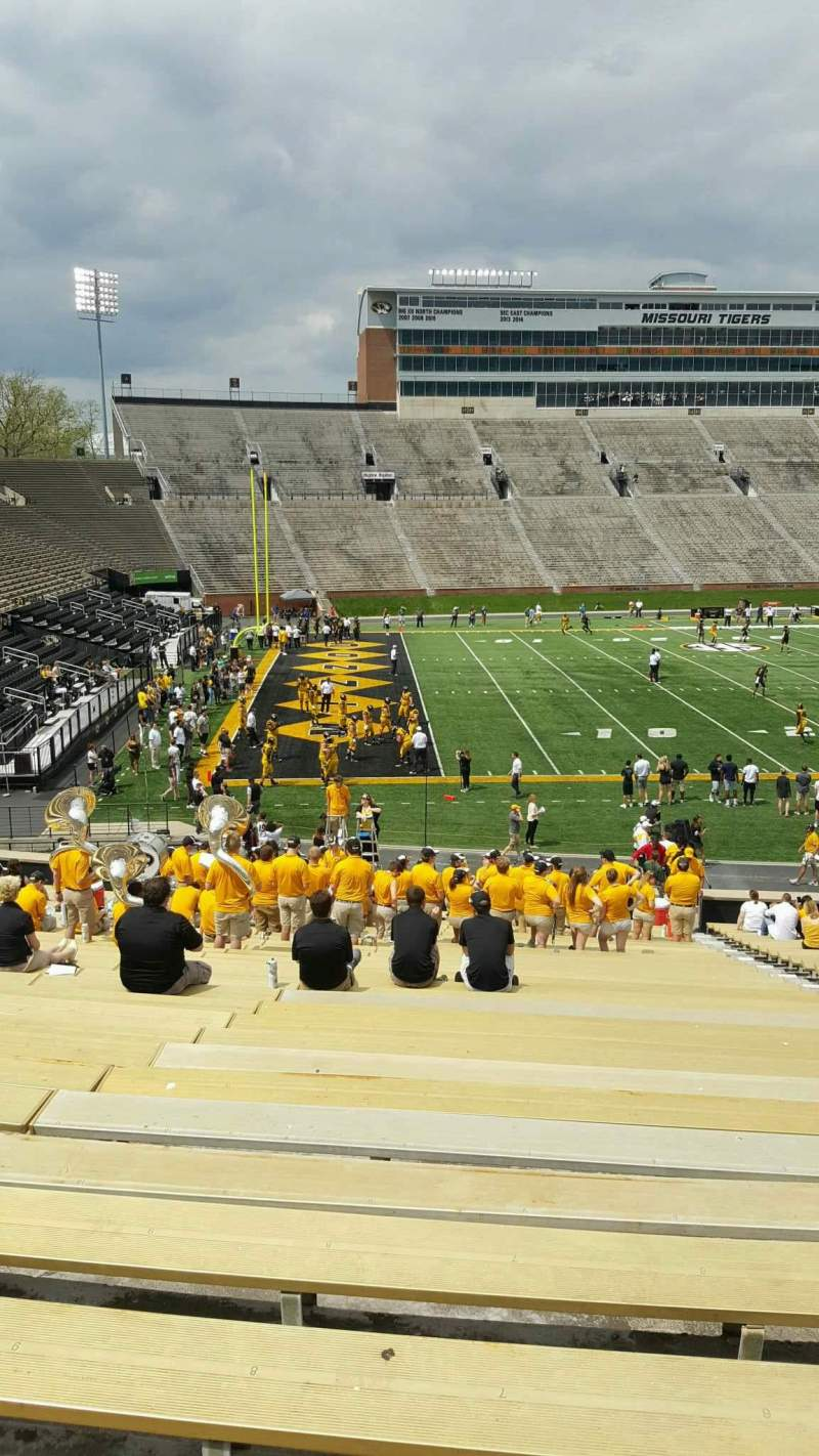 Seating view for Faurot Field  Section 102 Row 34 Seat 7