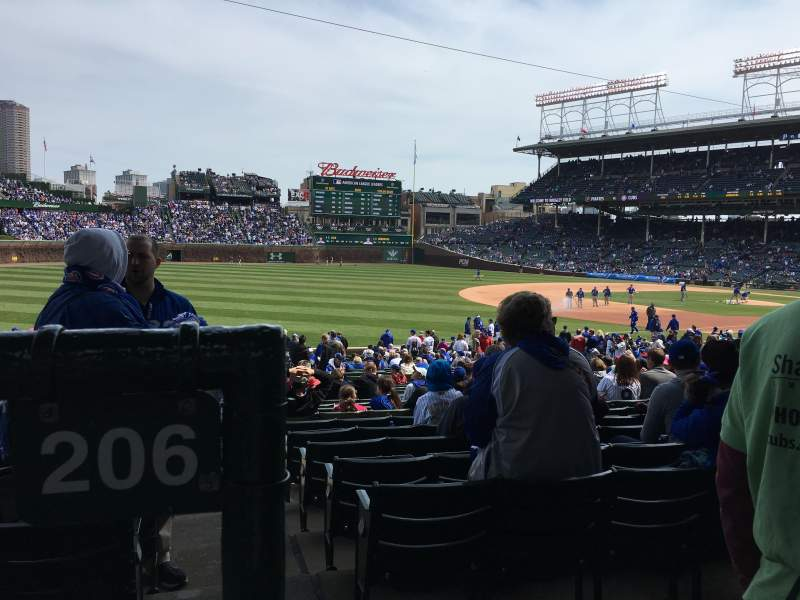 Seating view for Wrigley Field Section 206 Row 1 Seat 11