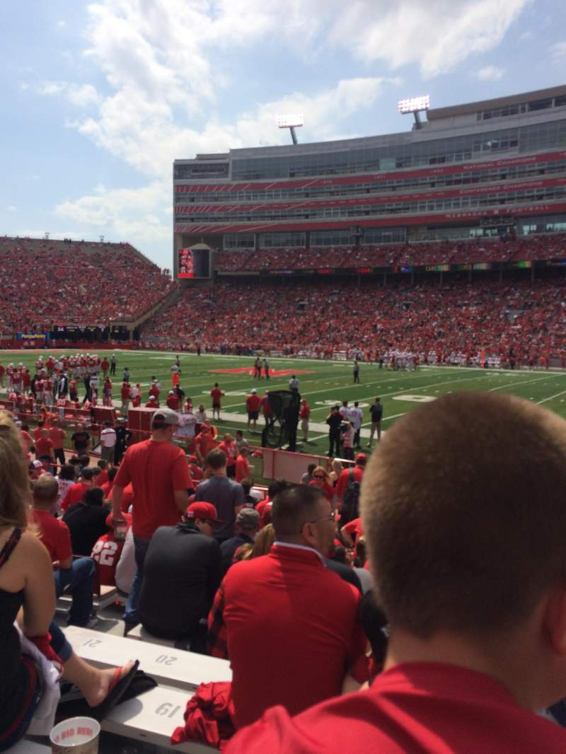 Seating view for Memorial Stadium (Lincoln) Section 2 Row 10 Seat 14