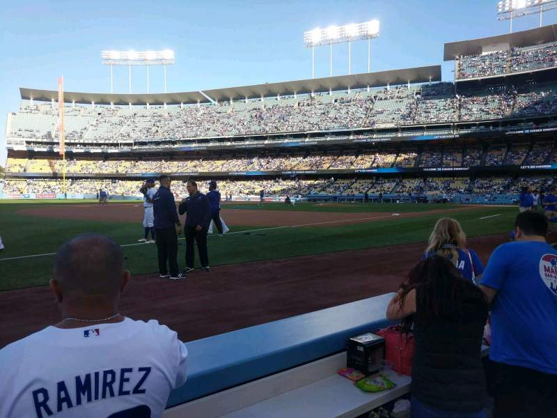 Seating view for Dodger Stadium Section 33BL Row 2 Seat 6