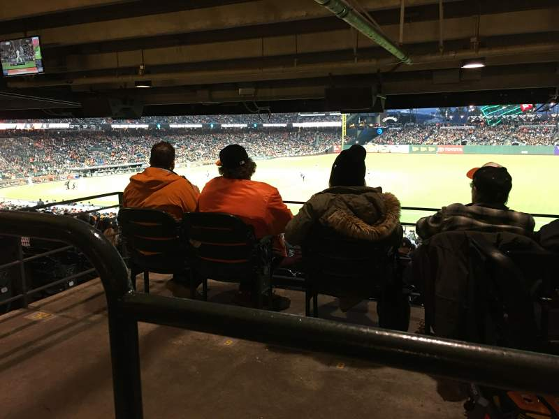 Seating view for AT&T Park Section 104 Row 42 Seat 3-7