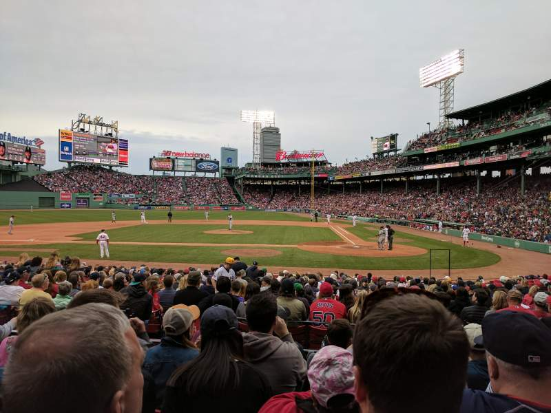 Seating view for Fenway Park Section Loge Box 140 Row EE Seat 4