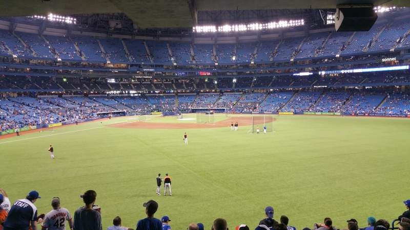 Seating view for Rogers Centre Section 103L Row 10 Seat 108
