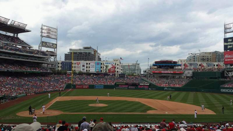Seating view for Nationals Park Section 128 Row NN Seat 15