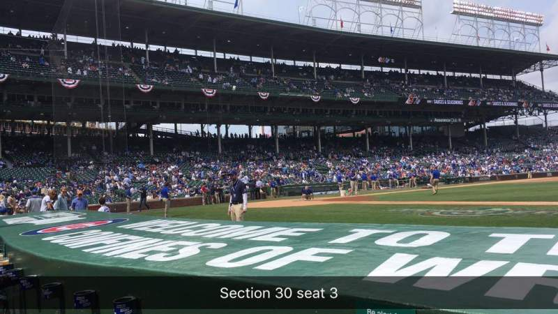 Seating view for Wrigley Field Section 24 Row 6 Seat 3