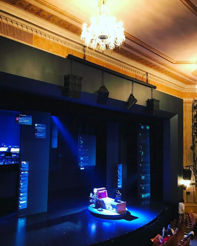 Seating view for Music Box Theatre Section Mezzanine L Row B Seat 17