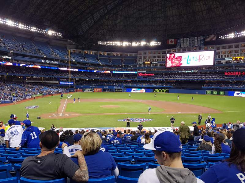 Seating view for Rogers Centre Section 118L Row 30 Seat 109