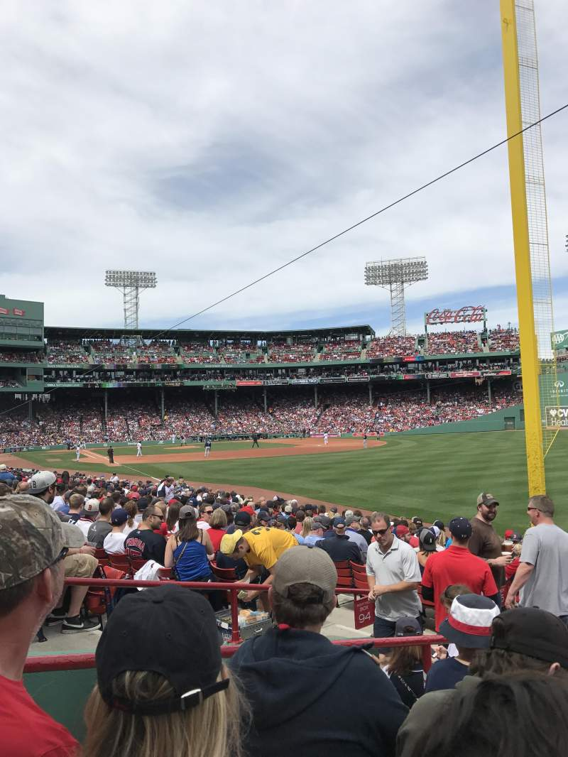 Seating view for Fenway Park Section Right Field Box 93 Row LL Seat 17