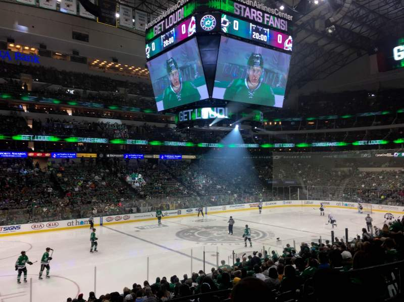 Seating view for American Airlines Center Section 121 Row U Seat 5
