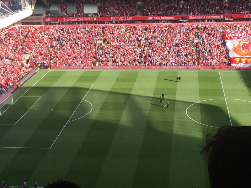Seating view for Anfield Section U4 Row 80 Seat 119