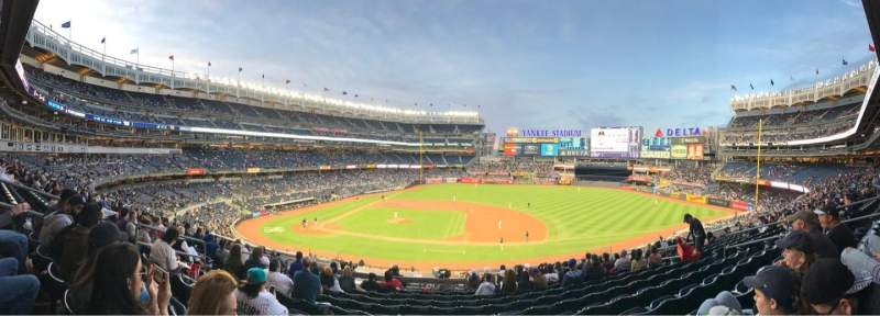 Seating view for Yankee Stadium Section 215 Row 12 Seat 12