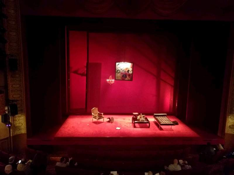 Seating view for Ethel Barrymore Theatre Section Front Mezzanine C Row A Seat 105