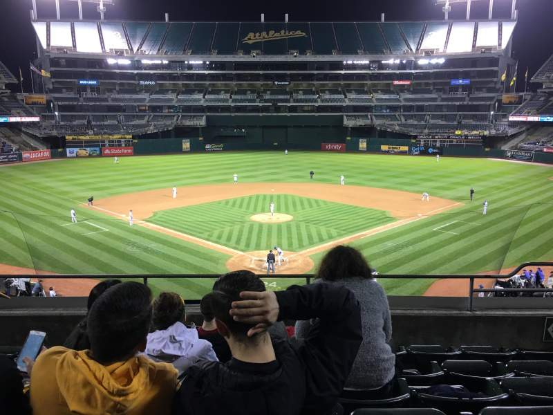 Seating view for Oakland Coliseum Section 217 Row 6 Seat 6