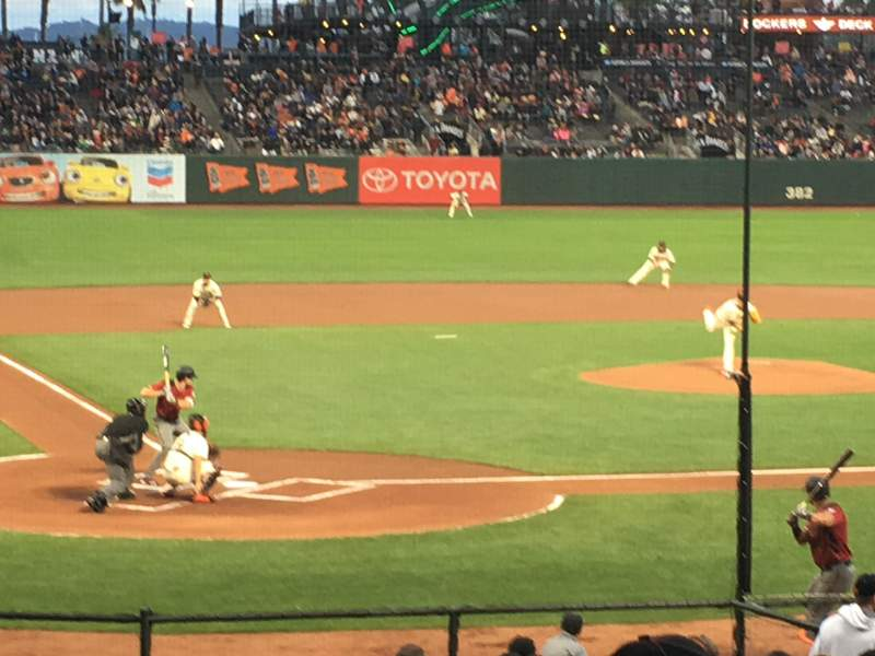 Seating view for Oracle Park Section 112 Row 24 Seat 15