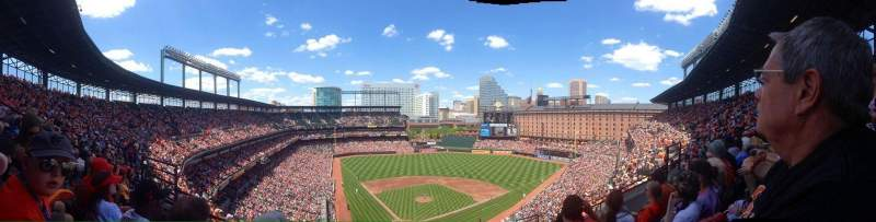 Seating view for Oriole Park at Camden Yards Section 332 Row 16 Seat 9
