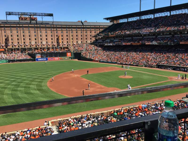 Seating view for Oriole Park at Camden Yards Section 254 Row 1 Seat 9