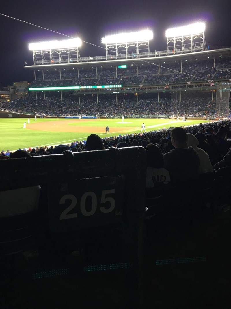 Seating view for Wrigley Field Section 205 Row 1 Seat 17